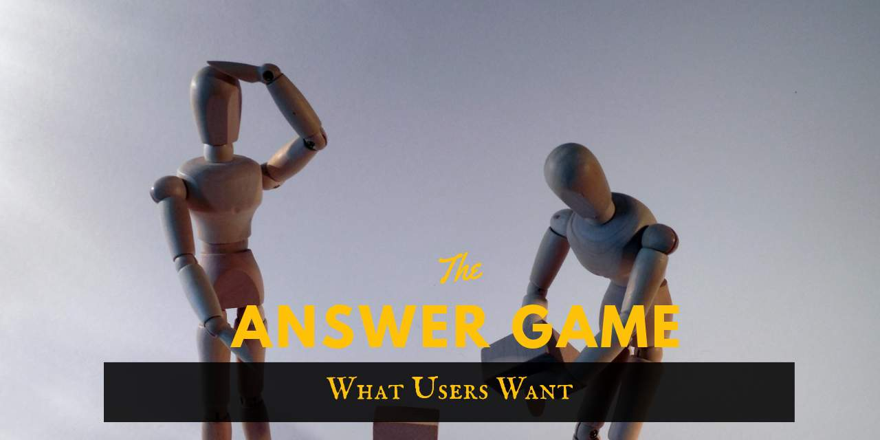The Answer Game